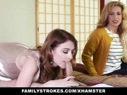 FamilyStrokes - Stepsiblings Gets Caught Poking by Step-Mom