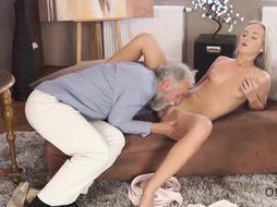 Lovely blondie doll luvs to get her elder teacher's fat fuckpole deep inwards  her humid fuckbox