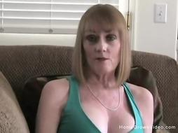 Mature buxomy blond step-mom prays to inhales my phat lollipop