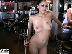 Wild girls getting dirty in public