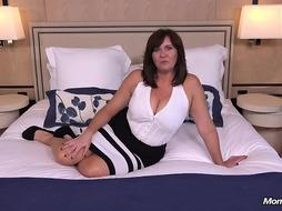 Thick cougar with humungous boobs loves to drill junior men, every once in a while
