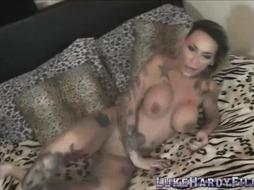 Big-Chested italian cougar plumbed