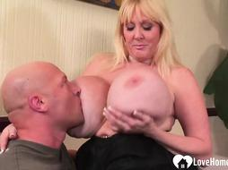 Ash-Blonde with good-sized titties gets poked rock-hard
