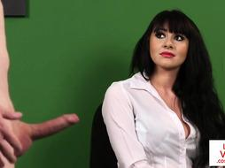 Brit CFNM hidden cam likes Jerk Off Instructions in the office