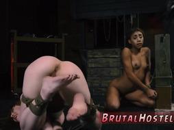Bondage machine sexually broken and huge tits rough