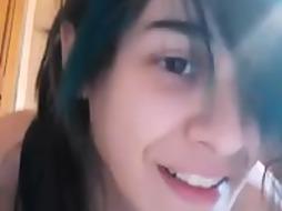 Super-Cute Teenage In Microskirt Grope Herself On Webcam