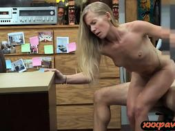 Petite blonde biatch rammed by pawn dude