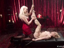 Blonde slave whipped and anal fisted