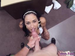 Hardcore threesome Big hooter Latina is a fuckslut for