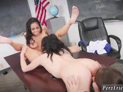 Passionate lesbian licking three xxx After School