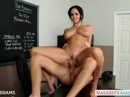 Instructor in glasses Ava Addams gets phat melons humped