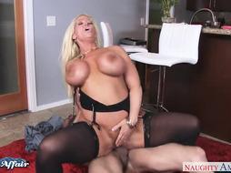 Huge-Titted towheaded Alura Jenson boink her neighbor