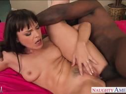 Super Hot black-haired Dana DeArmond gets rump dark-hued beaten
