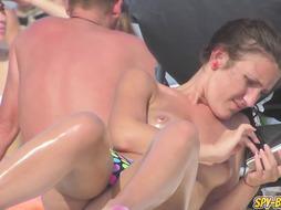Stripped To The Waist Spycam Beach Close Up NAUGHTY Teenagers - Spy-Beach Flick - PornGem