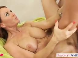 Huge-Chested ginger-haired mother Janet Mason porking