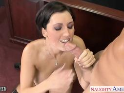 Chesty dark-haired tutor Dylan Ryder screwing