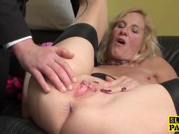 Dumping british grandmother throatfucked