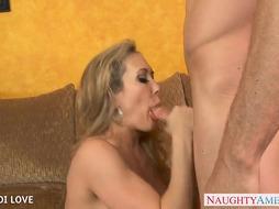 Bombshell light-haired Brandi Enjoy pounding