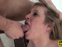 Abased uk grannie submits to male domination