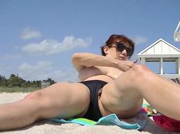 Exhibitionist Wifey Lana THICK LIPS Unveiled On Public Beach!