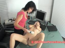 College Secretary Unwrapped And Made To Ejaculation By Cockslut Chief