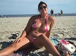 Crystal's Bathing Suit Doesn't Frost Her Bum Or Coochie!