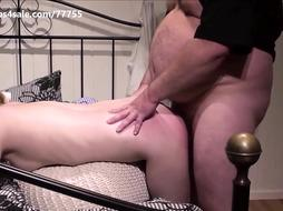 A youthful woman get slapped and rock-hard pummeled by an olderly pervo