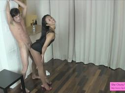 Nice Chinese HAND-JOB on Stocking Light Ballkicking Have Fun Preview