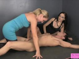 Preparation for Emasculation Face Sitting Restrain Bondage Hand Job