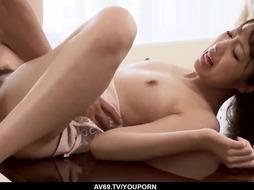 Anri Hoshizaki flashes off epic abilities with a large pink cigar - More at 69avs.com