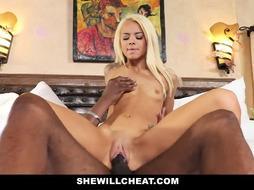 SheWillCheat - Hotwife Wifey Absorbs Dark-Hued Meatpipe
