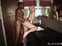 BLACKEDRAW 4 School Nymphs In HORNY BIG BLACK COCK Group Sex