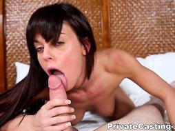 Personal Audition-X - Rahyndee James - Her very first ever facial cumshot
