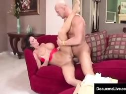 Alluring damsel, Deauxma tempted and boned the tax boy to get some benefits in every perceive