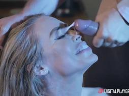 Astonishing towheaded, Nicole Aniston and her homie's hubby, Keiran, couldn't hold back from plumbing