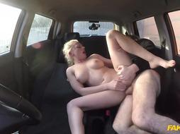 Insane Grind blond with a meaty, chubby booty, Elizabeth Romanova had super hot fuckfest in the van