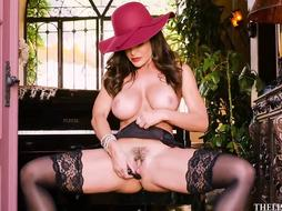 Super-Steamy cougar with fat, rigid cupcakes, Lisa Ann took off her sundress and embarked jacking like super-naughty