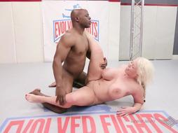 Alura and Willtile revved a grappling match into an multiracial fuckfest sesh and loved it