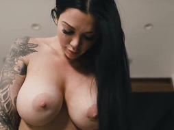 Buxom, tatted biz dame, Melina Mason got down and muddy with one of her biz counterparts