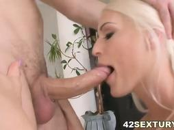 Astonishing blondie doll with monstrous, plump backside, Blanche Bradburry had anal invasion fuck-a-thon until she came