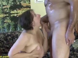 Humungous breasted cougar loves to have fuckfest with a junior fellow and to get her backside pounded