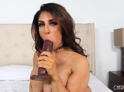 Mummy Plays With Fave Faux-Cock