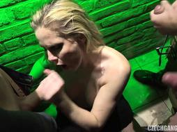 Big-Titted Barmaid Likes Group Plow