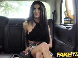 Cheating brunette takes cock in her ass