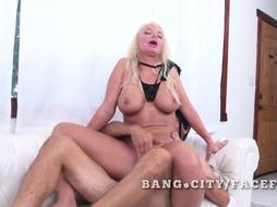 She is loving being manhandled by men