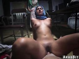 Arab arabian big ass threesome and elevator first time