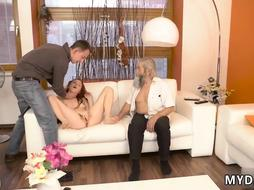 Czech young amateur Unexpected practice with an older
