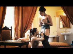 Huge tits latina in amazing lesbian sex