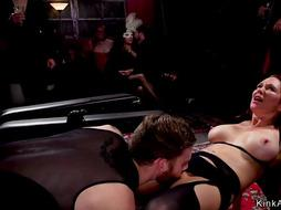 Beautiful slaves whipping and fucking