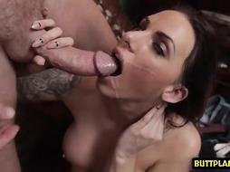 Big tits pornstar deepthroat and cum in mouth